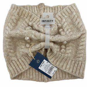 Universal Thread Cream Pom Pom Sweater Knit Scarf